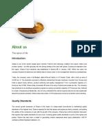 Shama Spices Profile
