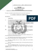 Ley 108 Aprobacion Prestamo con la CAF para el Programa Sectorial de Transporte