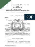 Ley 111 Modificacion al Presupuesto General del Estado de las Entidades Territoriales Autonomas