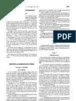 Portaria 634-2010 (Fardamento PSP)