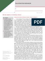 2011-06-07 Mitsubishi UFJ Britains Lessons in Monetary Failure - Devaluation and QE Procude Starkly Negative Results