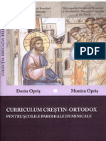 Curriculum Crestin-Ortodox Pentru Scolile Parohiale Duminicale