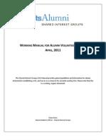 Manual for Alumni Volunteer Leaders April 2011
