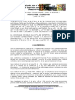 Proyecto de acuerdo No 06  de 2011 para participar en sociedades públicas