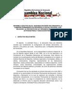 PROYECTO DE LEY ORGÁNICA DEL DEPORTE, ACTIVIDAD FÍSICA Y EDUCACIÓN FÍSICA