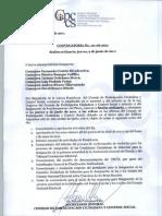 Convocatoria No. 111-06-2011