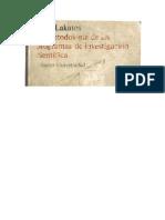 LAKATOS-La metodología de los programas de investigación científica