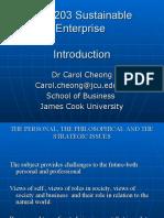 Lecture 1 - Sustainable Enterprises