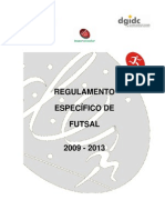 Regulamento Específico de Futsal 2009-2013