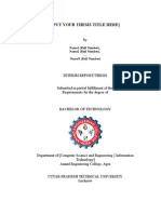 Thesis Report Template