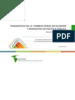 Diagnostico de La Pobreza Rural en Ecuador y Respuesta de La Politica Publica-Ecuador