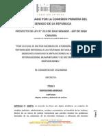 Ley de reparación de víctimas en Colombia
