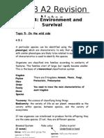 A2 Revision Notes Bio