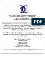2011 Mustang Conditioning Camp