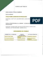 Versión pública de los expedientes laborales de ex colaboradores del Sedif