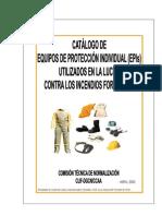 Catalogo EPI en Lucha Contra Incendios Forestales