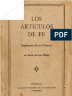 ARTÍCULOS DE FE (Manual) - David Lawrence Mckay