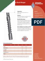 Cont Flow Bar Stock Plunger