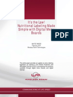 Nutritional Labeling 2011