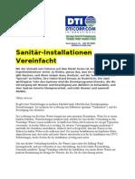 Sanitär-Installationen Vereinfacht