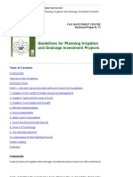 3-FAO Guidelines for Planning Irrigation and Drainage Investment Projects""