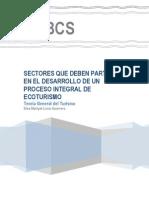 Sectores Que Participan en Ecoturismo