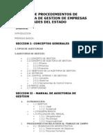 Manual de Procedimientos de Auditoria de Gestion de Empresas y Sociedades Del Estado