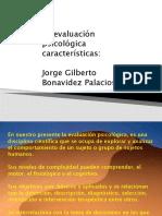 La evaluación psicológica características.