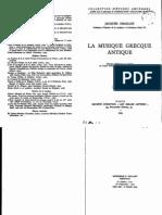 Chailley, J. - La Musique Grecque Antique