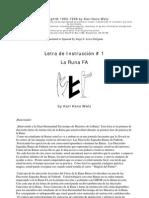 LETRA DE INSTRUCCIÓN # 1 - LA RUNA FA