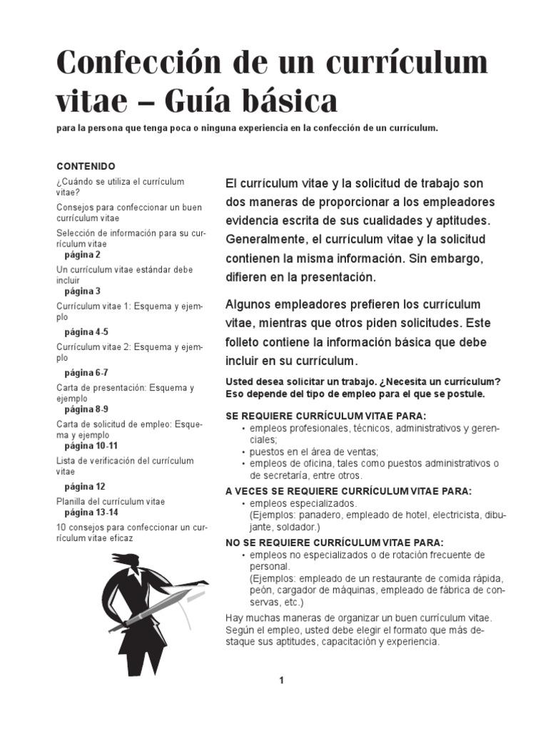 Como+Hacer+Un+Curriculum+Vitae+Ejemplos
