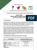 Programa Curso-Taller  Salud Laboral y Medio Ambiente Ecuador 2011