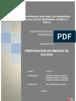 Informe 3 Bioquimica Medios de Cultivo