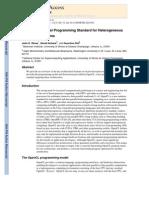 OpenCL a Parallel Programming Standart for Heterogeneous