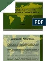 Situacion Astronomic A y Geografica de Venezuela Tema 1