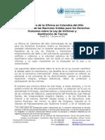 2011. Declaración ley de víctimas