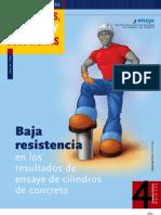 Causas de Bajs Resistencias en Cilindros de Concreto Hidraulico Por El IMCYC