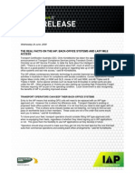 IAP Media Release Benefits, Back Office and Last Mile - 24 June 09