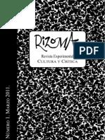 Rizoma. Revista experimental de crítica y cultura. Número 1