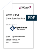 UART to Bus Core Specifications