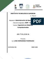 Antologia de Admin is Trac Ion de Base de Datos