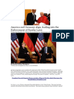 America and Germany align unto the Enforcement of Sunday Laws