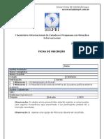 Ficha Inscrição SIEPRI 2011