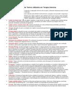 Glossário de Termos utilizados em Terapia Intensiva