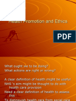 Health Promotion and Ethics