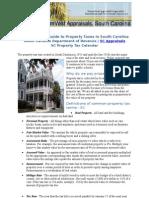 SC Property Tax Calendar - Dreamvest Appraisals