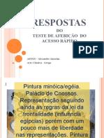 respostas do TESTE DE AFERIÇÃO  DE  ACESSO RÁPIDO