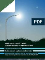 Ley General de Electricidad y Reglamentos