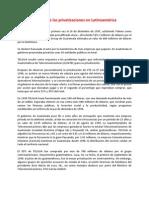 La triste historia de las privatizaciones en Latinoamérica