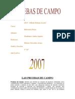 Pruebas de Campo - Educacion Fisica